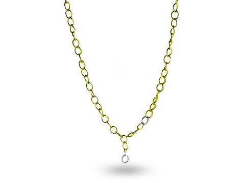 """Chiara"" The Bright One, Necklace in Yellow Gold"