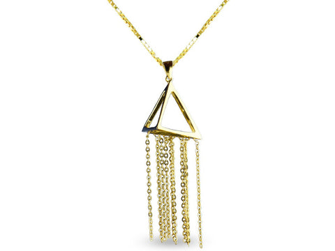 """Pyramid"", Necklace Yellow Gold"