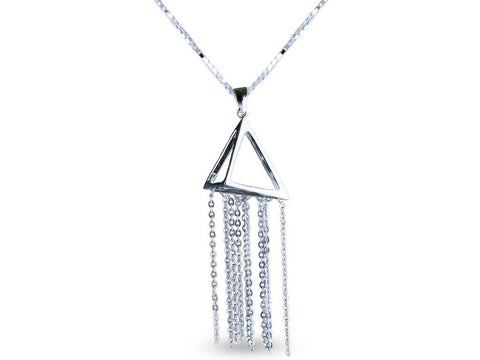 """Pyramid"", Necklace White Gold"