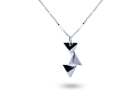 """Cualli"" The Good One Necklace in White Gold"