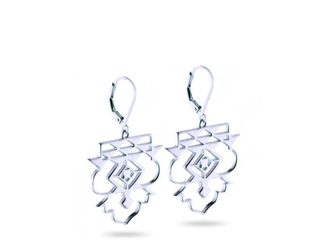 """Icnoyotl"" Friendship, Earrings in White Gold"
