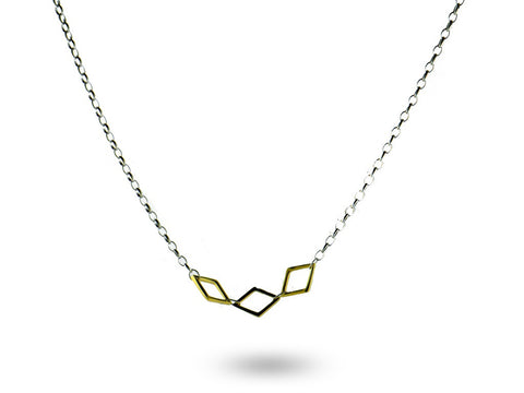 """Itotia"" The Dance, Necklace in Yellow Gold"