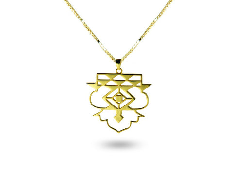 """Icnoyotl"" Friendship, Necklace in Yellow Gold"