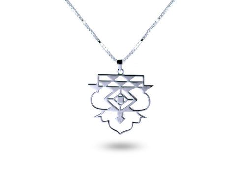 """Icnoyotl"" Friendship, Necklace in White Gold"