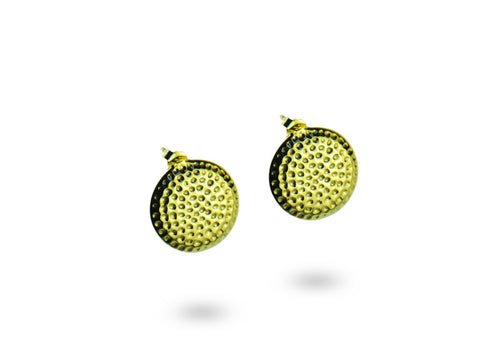 """Armanie"", The Fashionable One Ear Studs Yellow Gold"