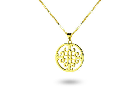 """Felicite"", The Fortunate One Necklace Yellow Gold"