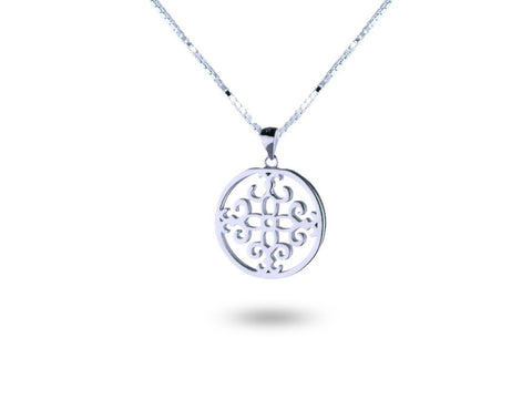 """Felicite"", The Fortunate One Necklace White Gold"