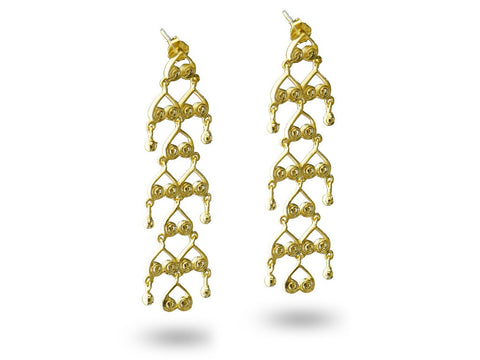 """Bahula"", The Star Earrings Yellow Gold"