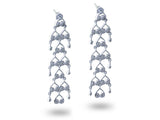 """Bahula"", The Star Earrings White Gold"