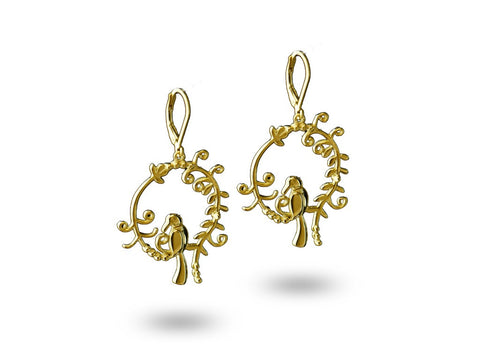 """Daksha"", The Talented One Earrings Yellow Gold"