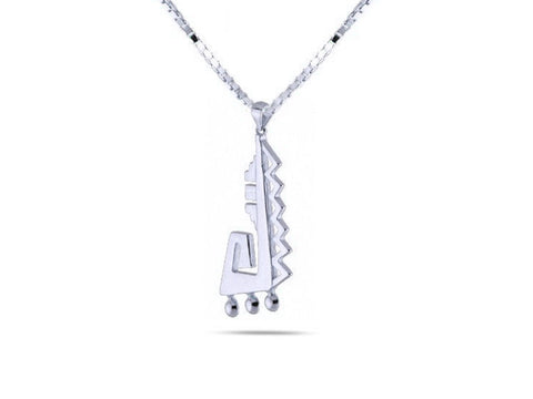 """Achcauhtli"" The Leader, Necklace in White Gold"
