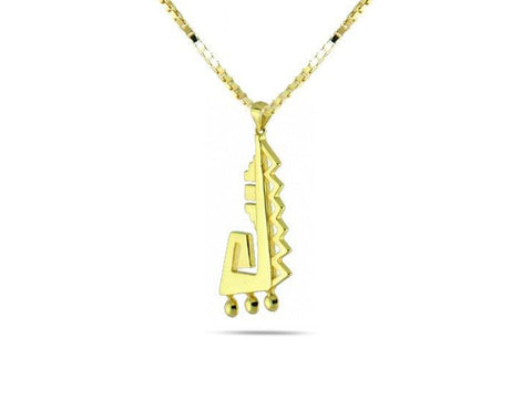 """Achcauhtli"" The Leader, Necklace in Yellow Gold"