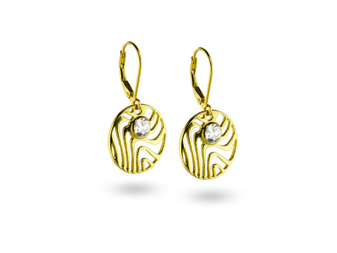 """Aisha"", The Life, Earrings in Yellow Gold"