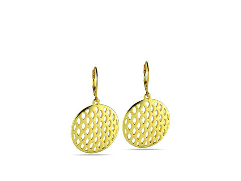 """Allegria"", Cheerful and Lively Earrings in Yellow Gold"