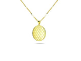 """Allegria"", Cheerful and Lively Necklace in Yellow Gold"