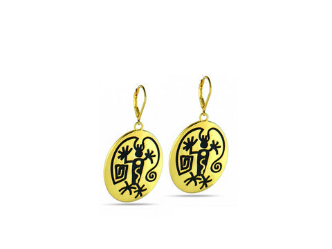 """Angeni"", The Spirit Earrings in Yellow Gold"
