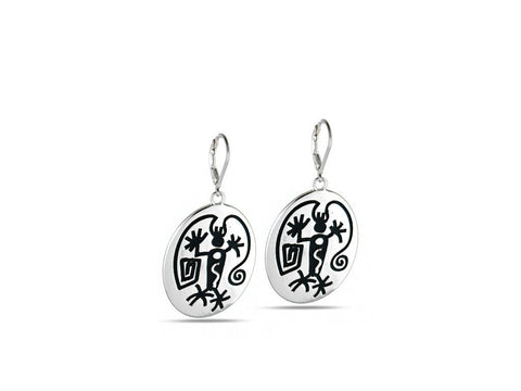 """Angeni"", The Spirit Earrings in White gold"