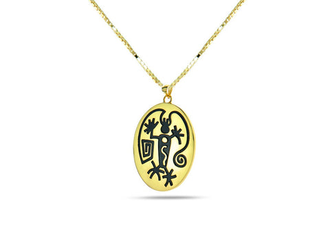 """Angeni"",The Spirit Necklace Yellow Gold"