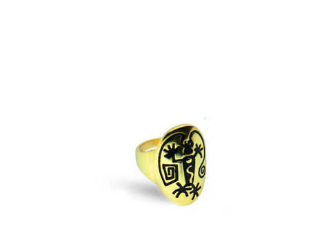 """Angeni"", The Spirit Ring in Yellow Gold"