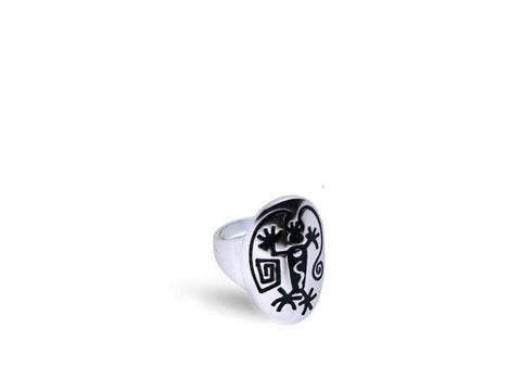 """Angeni"", The Spirit Ring in White Gold"