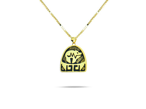"""Bear"", Symbol of Strength and Leadership Necklace"