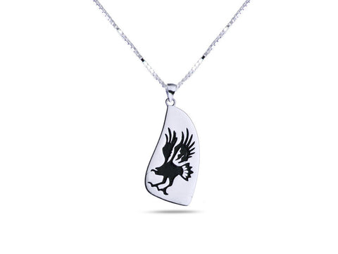 """Eagle"", Symbol of Bravery and Carrier of Prayers Necklace"