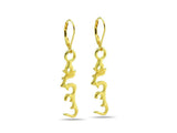 """Hung"", A Symbol of Enlightenment Earrings Yellow Gold"