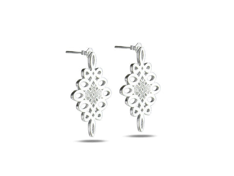 """Jie"", The Divine Knot Earrings"