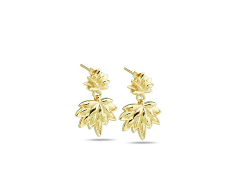 """Lotus"", A Symbol of Spiritual Unfoldment Earrings Yellow Gold"