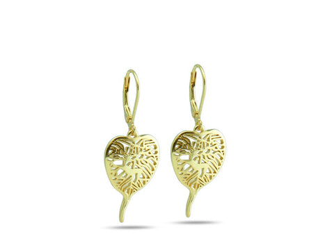 """Bodhi Tree"", The Awakening Earrings Yellow Gold"