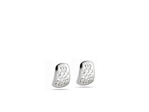 """Felisa"", Lucky Earrings in White Gold"