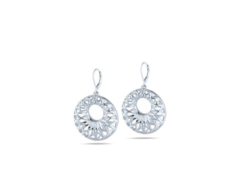 """Gioia"", Happiness Earrings in White Gold"