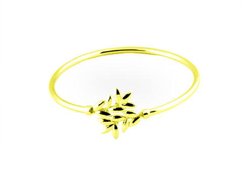"""Eukleia"", The Glory Bangle Yellow Gold"