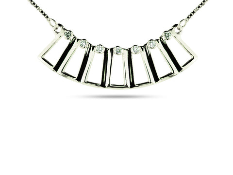 """Euthenia"", The Prosperity Necklace White Gold"