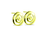"""Spiral"" The Circle of Life, Ear Studs in Yellow Gold"
