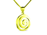 """Spiral"" The Circle of Life, Necklace in Yellow Gold"