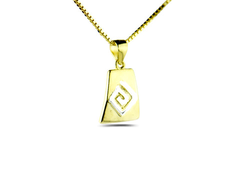 """Meandros"" Key, The Symbol of Eternity, Two Tone Necklace"
