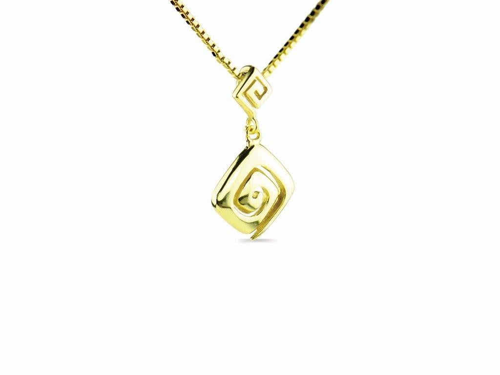 Meandros key the symbol of eternity necklace in yellow gold meandros key the symbol of eternity necklace in yellow gold biocorpaavc