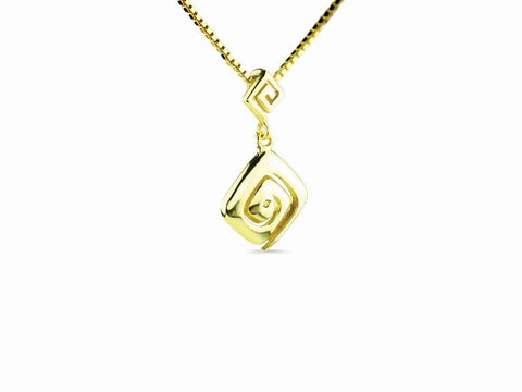 """Meandros"" Key- The Symbol of Eternity, Necklace in Yellow Gold"
