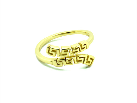 """Meandros"" Key- The Symbol of Eternity, Ring in Yellow Gold"