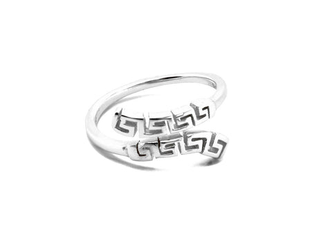 """Meandros"" Key- The Symbol of Eternity, Ring in White Gold"