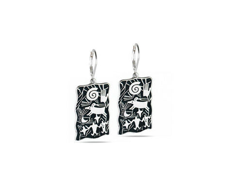 """Hand"", Symbol of Achievement and Legacy Earrings White Gold"