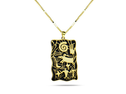 """Hand"", Symbol of Achievement and Legacy Necklace Yellow Gold"