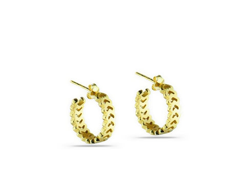 """Izel"" The Unique One, Earrings in Yellow Gold"