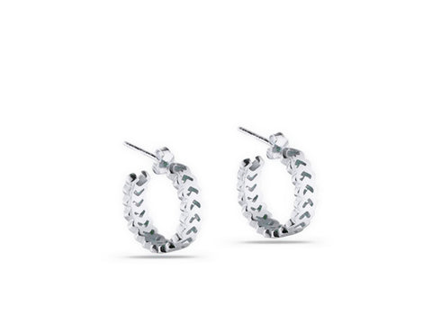 """Izel"" The Unique One, Earrings in White Gold"