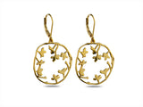 """Sakura"" Cherry Blossoms Earrings, Rose gold"