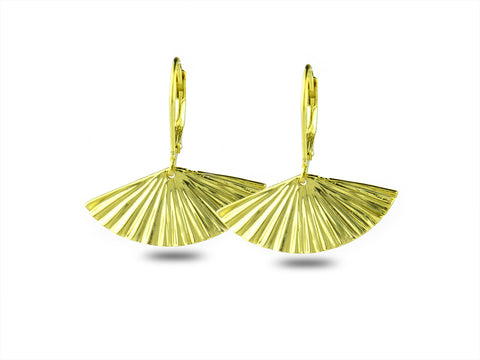 """Sensu"" The Fan, Earrings II in Yellow Gold"