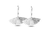 """Sensu"" The Fan, Earrings II in White Gold"