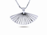 """Sensu"" The Fan, Necklace II in White Gold"
