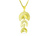 """Sensu"" The Fan, Necklace in Yellow Gold"